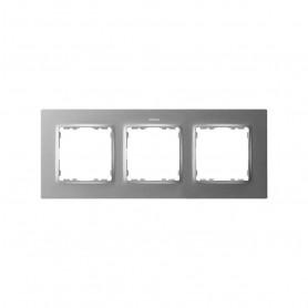 Marco para 3 elementosSimon 82 Concept 8200637-093Aluminio