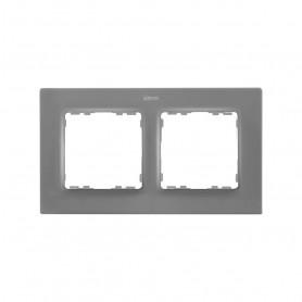 Marco para 2 elementosSimon 82 Concept 8200627-092Gris