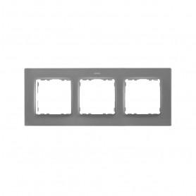 Marco para 3 elementosSimon 82 Concept 8200637-092Gris