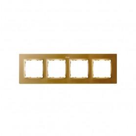Marco para 4 elementosSimon 82 Concept 8200647-095Oro