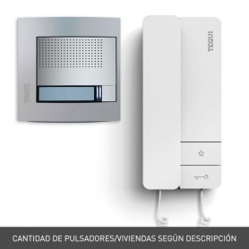 Kit portero electronico 2 hilos Tegui Sfera New (2 viviendas) Serie 8 378132