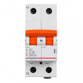 Interruptor magnetotermico para vivienda Legrand 419927 RX3 1P+N 6KA 20A