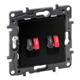 Base para altavoces HI-FI Doble Legrand 864549 serie Niloe Step Negro Mate