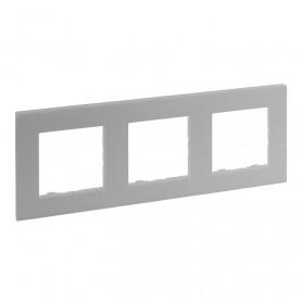 Marco3 elementosLegrand 864373serie Niloe Step Aluminio