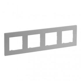 Marco4 elementosLegrand 864374serie Niloe Step Aluminio