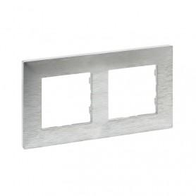 Marco2 elementosLegrand 864872serie Niloe Step Aluminio Pulido