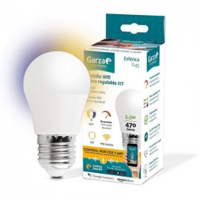Bombilla Esferica Led inteligente WIFI GARZA SMART HOME 401275 5,5W E-27