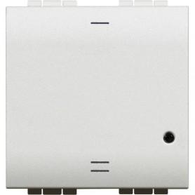 Interruptor de iluminacionconectado Bticino N4411CM2serie Livinglight with Netatmo color Blanco