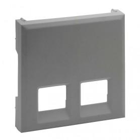 Tapa para base informaticadobleLegrand 864343serie Niloe Step Aluminio