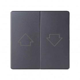 Tecla doble para mecanismos de persiana con enclavamientoSimon 82 Concept 8200028-096 Titanio