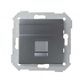 Adaptador 1 conector RJ45Simon 82 Concept 8200005-096Titanio