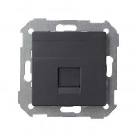 Adaptador 1 conector RJ45Simon 82 Concept 8200005-098Negro Mate