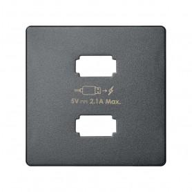 Tapa para cargador USB 2 conectoresSimon 82 Concept 8211096-096Titanio