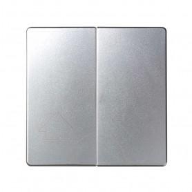 Tecla doble para mecanismos de persiana sin enclavamientoSimon 82 Detail y Simon 82 Concept 82029-93Aluminio Frio