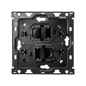 Kit Back 1 elemento SIMON 100 con 2 conectores informaticos RJ45 6 UTP10010111-039