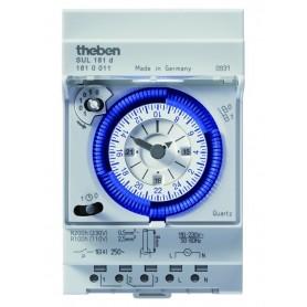Interruptor horarioanalogicoTHEBEN SUL181dcarril din 1810011 con reserva 200 horas