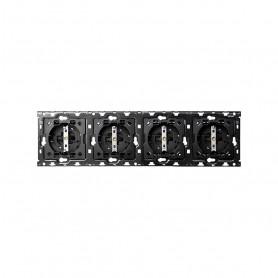 Kit Back 4 elementosSIMON 100 con 4 bases de enchufe schuko10010401-039