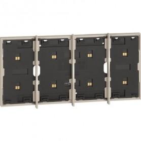 Marco electrificado Living Nowpara caja de 3+1 modulosBticinoKM8103P1para instalaciones MyHOME