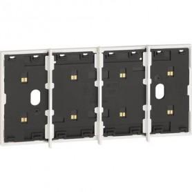 Marco electrificado Living Nowpara caja de 4 modulosBticinoKW8104para instalaciones MyHOME