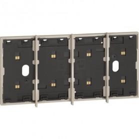 Marco electrificado Living Nowpara caja de 4 modulosBticinoKM8104para instalaciones MyHOME