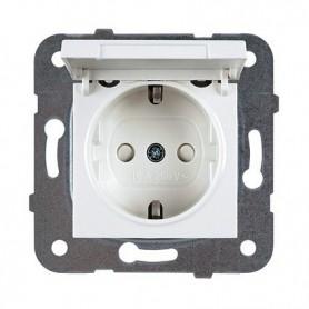 Base de enchufe 2P+TT16AX Panasonic Viko WKTT02122WH Karre Plus Blanco