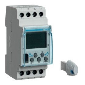 Interruptor horario digitalHager EG20316A 230V 2 circuitos conmutados