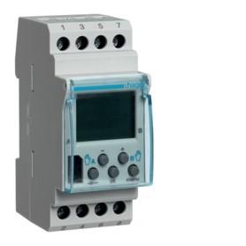 Interruptor horario digitalHager EG203B16A 230V 2 circuitos conmutados