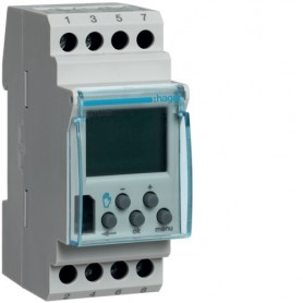 Interruptor horario digitalHager EG103B16A 230V 1 circuito conmutados