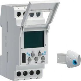 Interruptor astronomico digitalHager EE18116A 230V 2 circuitos conmutados