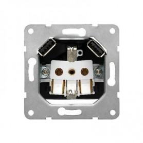 Base enchufe16A TT con doble USB tipo ABjc-Siemens 18524-USB