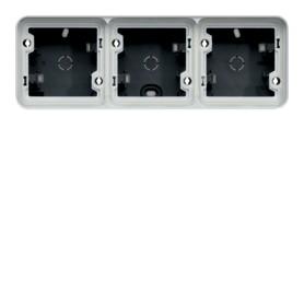 Caja triple Componible de superfcicie estanco HAGER Cubyko WNA683 IP55