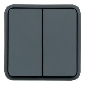 Conmutador DOBLE Componible estanco HAGER Cubyko WNA040 IP55