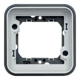 Soporte simple Componible de empotrar estanco HAGER Cubyko WNA401 IP55
