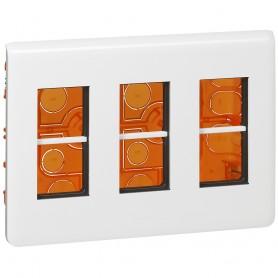 Caja de empotrarLegrand 078873L Mosaic 3x4 modulos color blanco