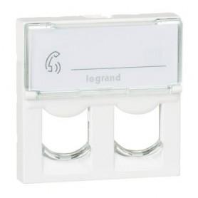 Tapa Informatica para 2 conectores Keystone Legrand 078610 Mosaic blanco