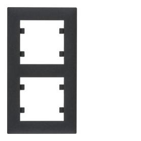 Marco 2 elementos vertical Hager Lumina Intense WL5623 color Negro