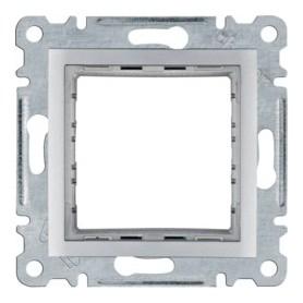 Adaptador 45x45Hager Lumina Intense WL2512color Plata