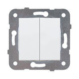 Conmutadordoble 10AX Panasonic Viko WKTT01112WH Karre Plus Blanco