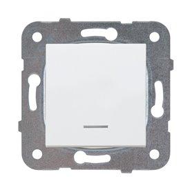 Conmutadorluminoso 10AX Panasonic Viko WKTT01042WH Karre Plus Blanco