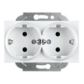 Base de enchufe doble2P+TT16AX Panasonic Viko WKTT02152WH Karre Plus Blanco