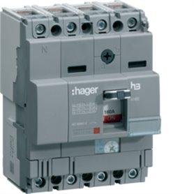 Interruptor automático Hager H3 HHA161H 160A 4polos X160 25kA