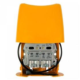 Amplificador de mastil3 entradas: BIII-UHF-FMmixTeleves 561821Nanokom (LTE700,2er Dividendo digital)