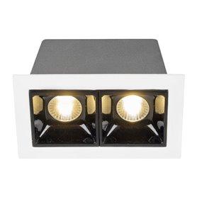 Empotrable de techoHofflightsItaly 1.1010.0112blanco/negro 2 lamparas 2w 3000K (calida)