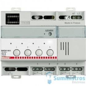 Actuador 4 salidas 16ABticino My home BMSW1003on/off