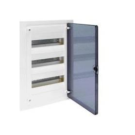 Cuadro electrico empotrable HAGER GOLF VF312TEcon puerta transparente
