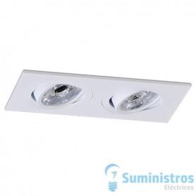 Empotrable doble cuadrado orientable de techo BPM Lighting MINI CATLI 4212 Blanco