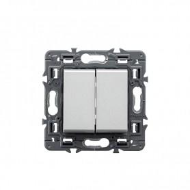 Interruptor doble Legrand 741344 serie Valena Next color aluminio