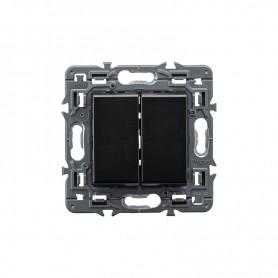 Interruptor doble Legrand 741444 serie Valena Next color dark