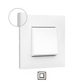Marco 1 elemento  Legrand 741011 serie Valena Next color blanco cromo