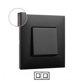 Marco 2 elementos  Legrand 741062 serie Valena Next color dark cromo oscuro
